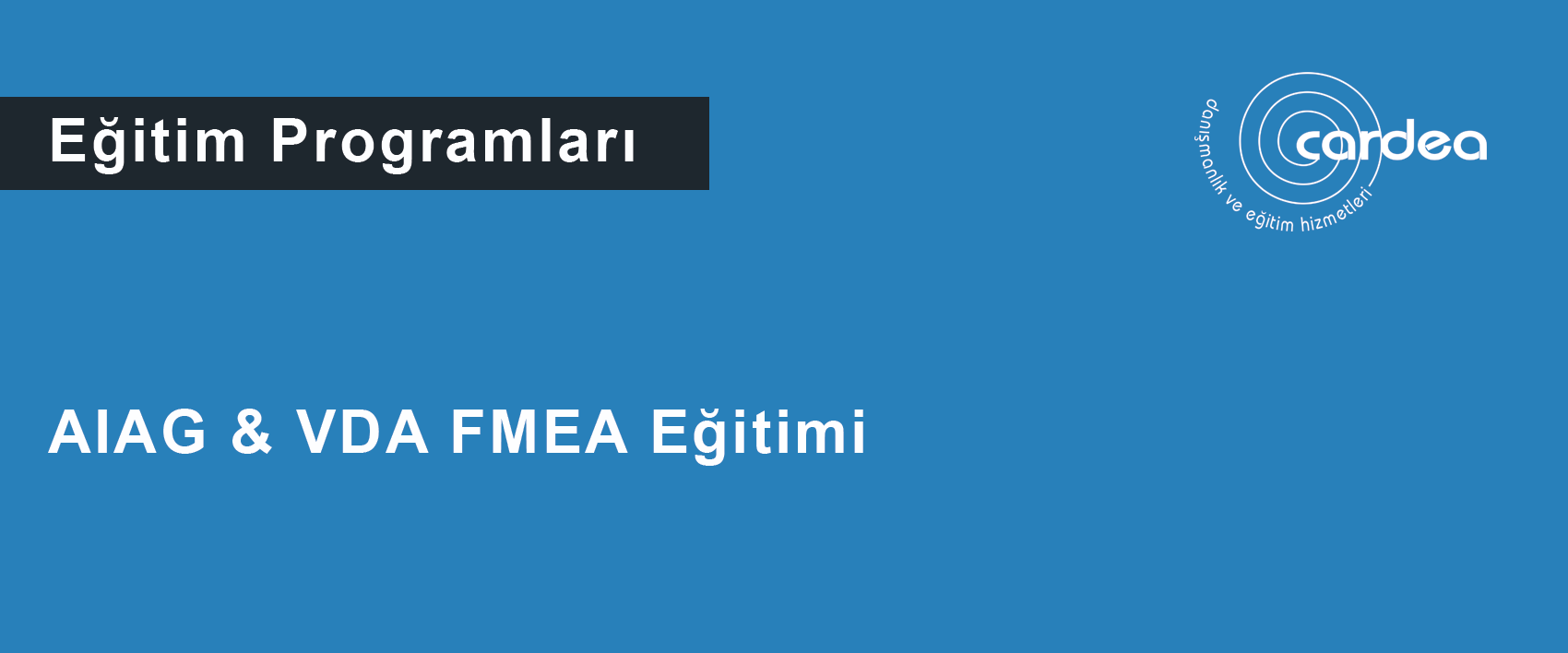 AIAG & VDA FMEA Eğitimi